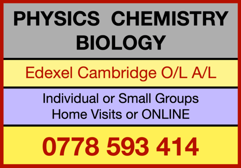 Edexcel Cambridge O/L, A/L - Physics, Chemistry, Biology